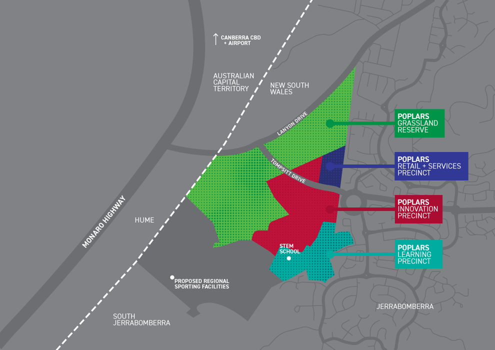 Poplars precinct map